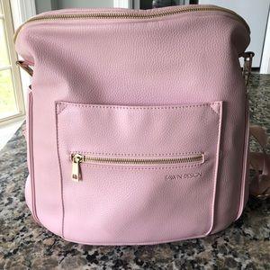 Fawn Design blush pink diaper/tote bag